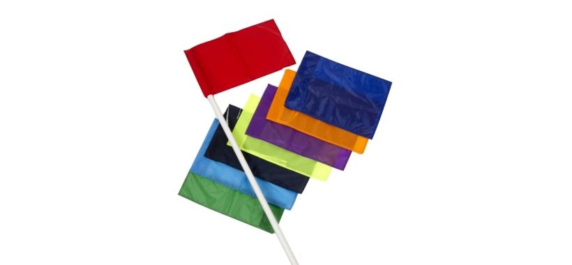 4 Corner Posts & 1 Colour Flags