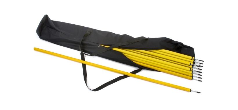 12 x Slalom Poles & Carry Bag