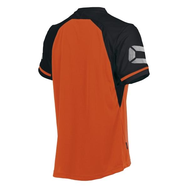 Stanno Liga Shocking Orange/Black SS Football Shirt