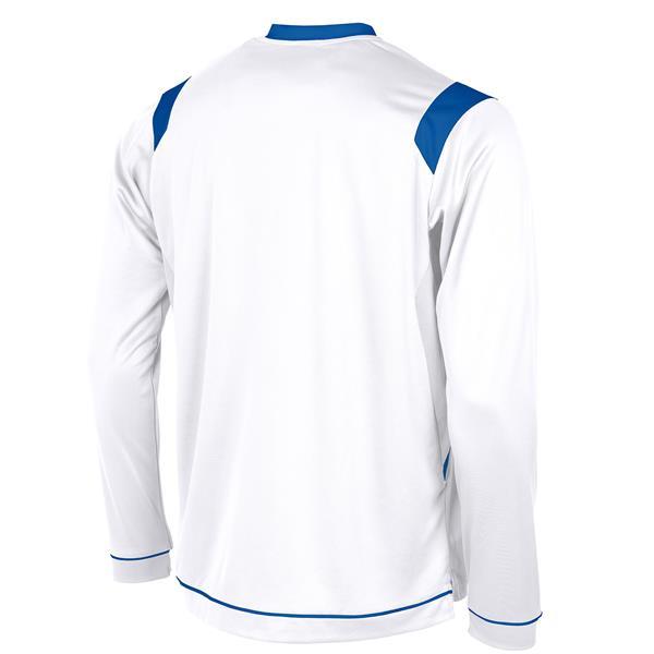 Stanno Arezzo LS White/Royal Football Shirt