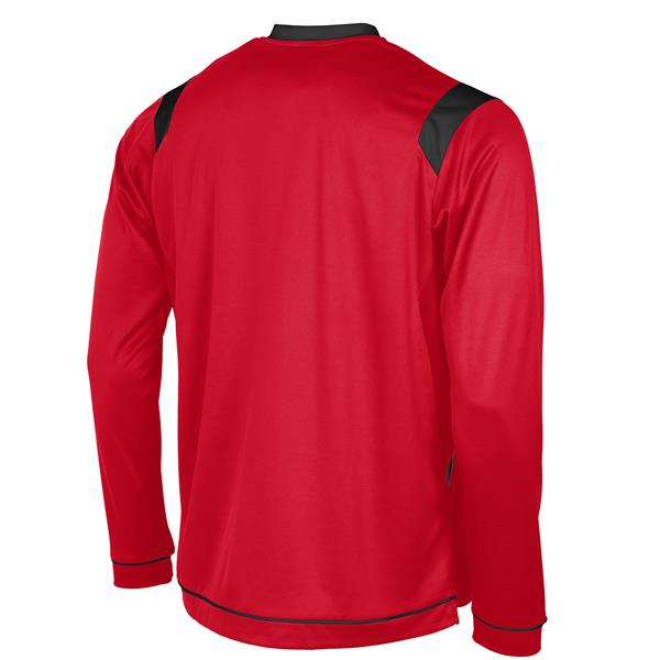 Stanno Arezzo LS Red/Black Football Shirt