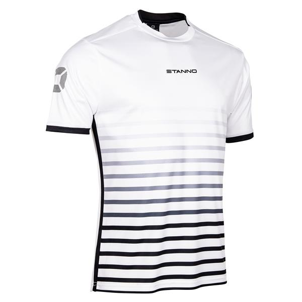 Stanno Fusion White/Black SS Football Shirt