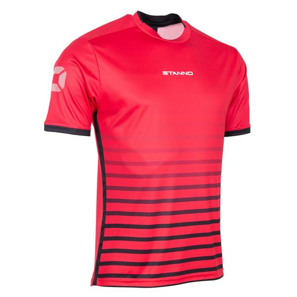 Stanno Fusion Red/Black SS Football Shirt