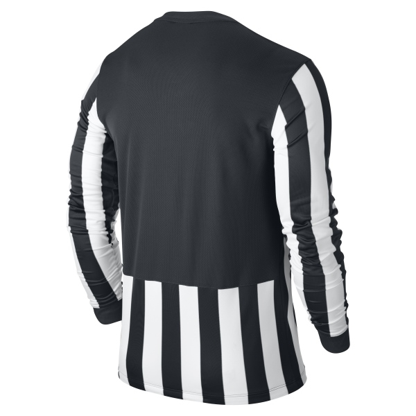 Nike Striped Division Black/White Long Sleeve Football Shirt