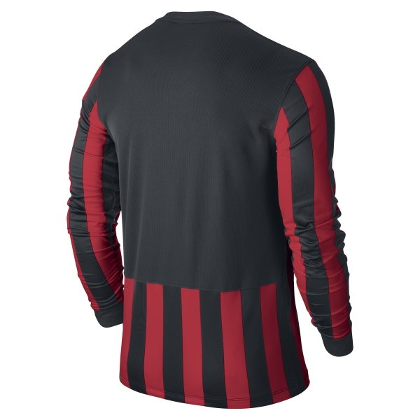 Nike Striped Division Black/University Red Long Sleeve Football Shirt