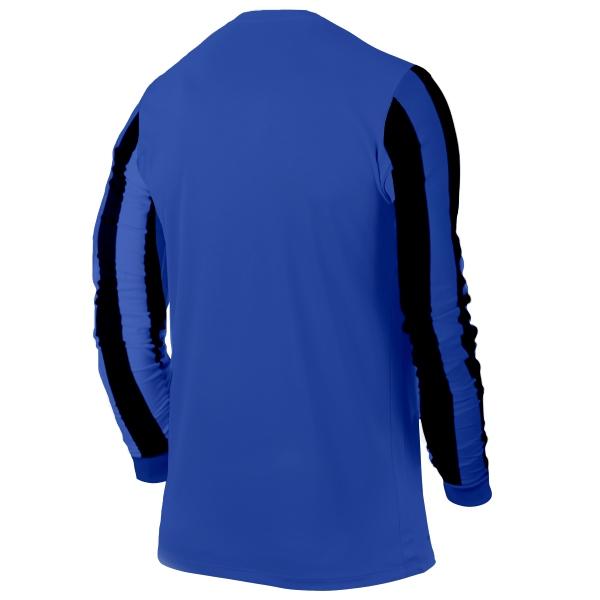 Nike Pro Striped LS Royal/Black Football Shirt