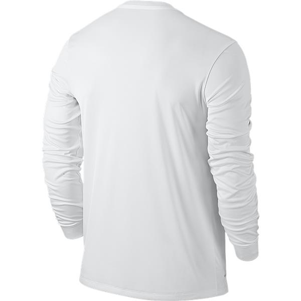 Nike Sash White/University Red Long Sleeve Football Shirt