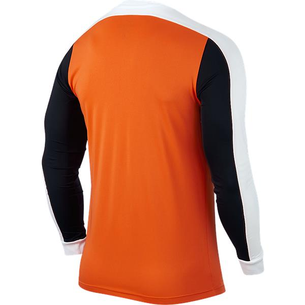 Nike Striker IV LS Football Shirt Safety Orange/Black Youths