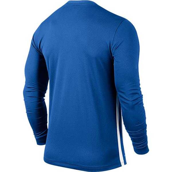 Nike Striped Division II Long Sleeve Football Shirt Royal Blue/White