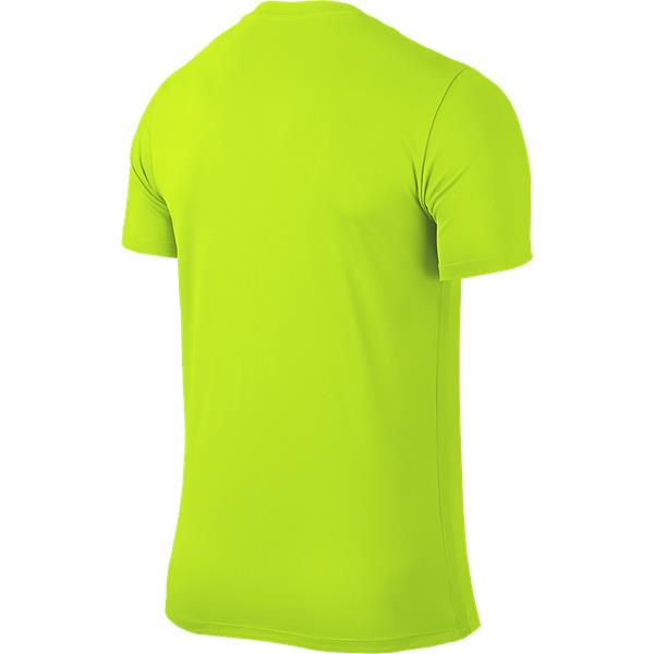 Nike Park VI SS Football Shirt Volt/Black