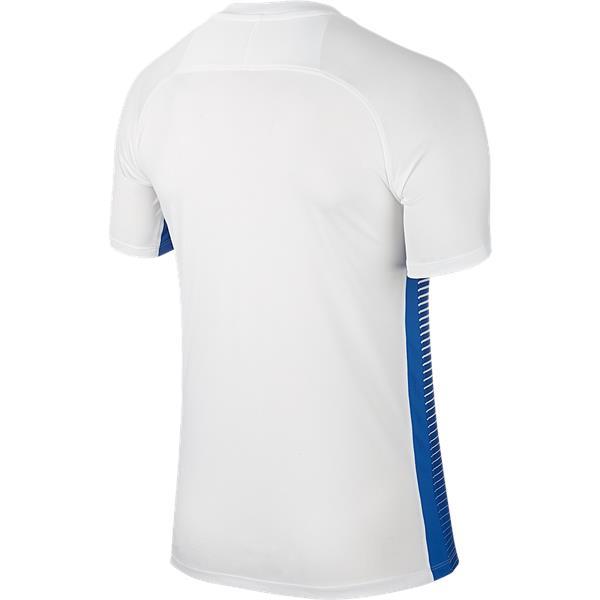 47c4ca91 Nike Precision IV Short Sleeve Football Shirt White/Royal Blue