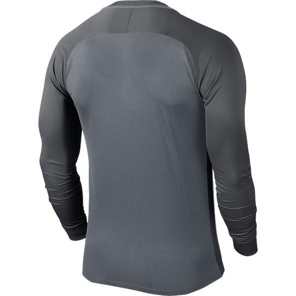 Nike Trophy III LS Football Shirt Cool Grey/Dark Grey