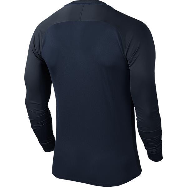 Nike Trophy III LS Football Shirt Mid Navy/Dark Obsidian
