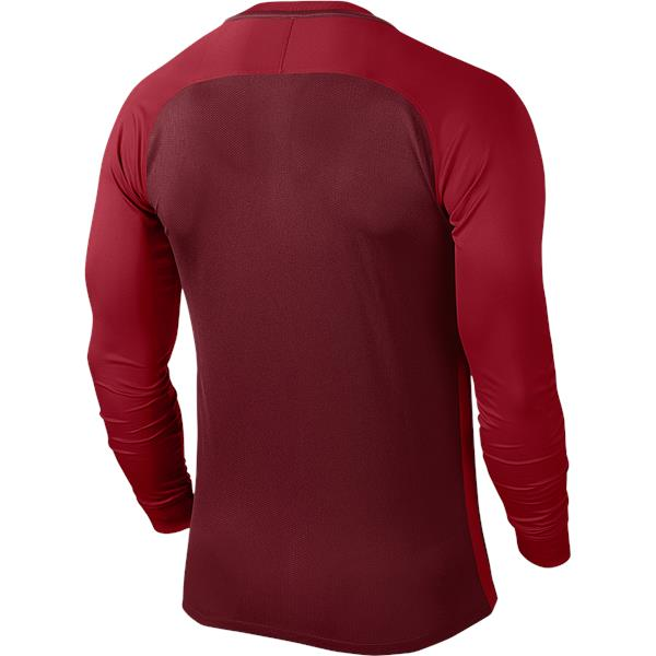 Nike Trophy III LS Football Shirt Team Red/Gym Red