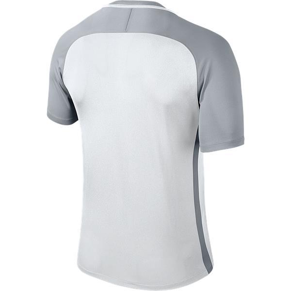 Nike Trophy III SS Football Shirt White/Wolf Grey