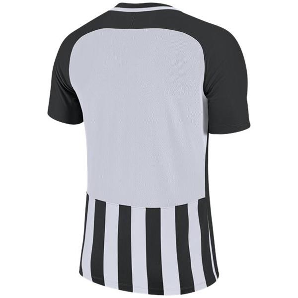 Nike Striped Division III SS Football Shirt Black/White