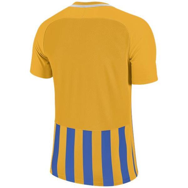 Nike Striped Division III SS Football Shirt Uni Gold/Royal Blue