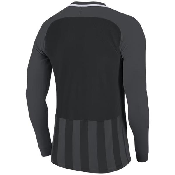 Nike Striped Division III LS Football Shirt Anthracite/Black