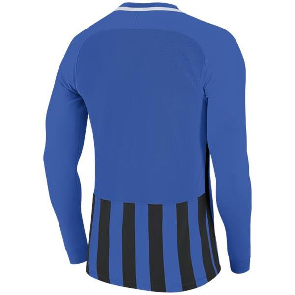 Nike Striped Division III LS Football Shirt Royal Blue/Black