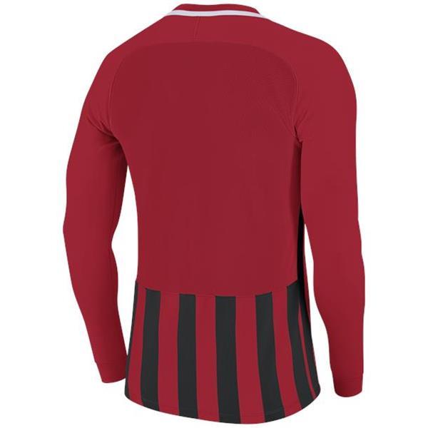 Nike Striped Division III LS Football Shirt Uni Red/Black