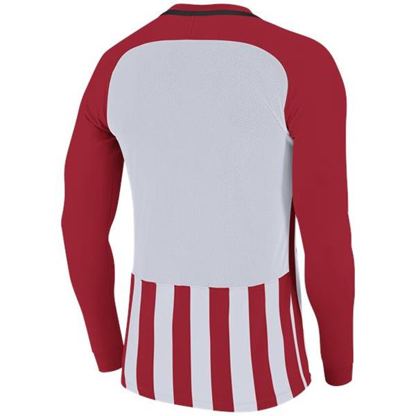 Nike Striped Division III LS Football Shirt Uni Red/White