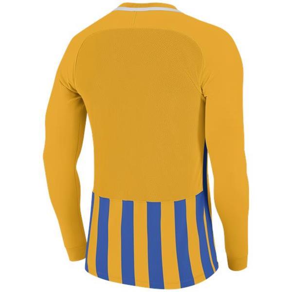 Nike Striped Division III LS Football Shirt Uni Gold/Royal