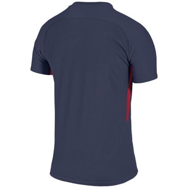 Nike Tiempo Premier SS Football Shirt Midnight Navy/Uni Red