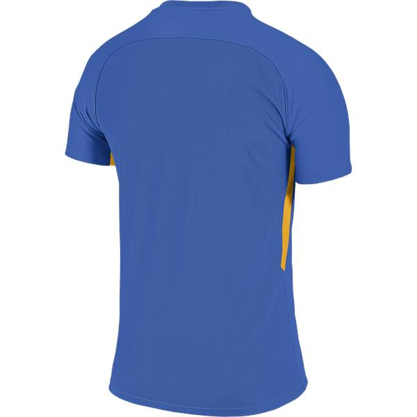 Nike Tiempo Premier SS Football Shirt Royal Blue/Uni Gold