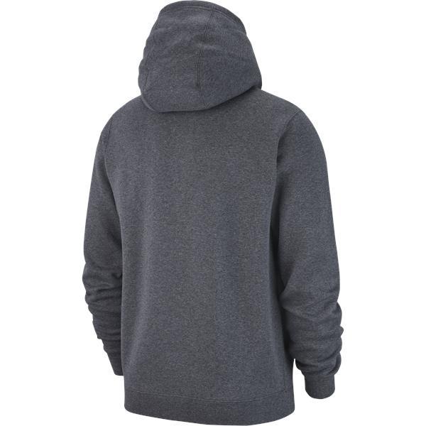 Nike Team Club 19 Full Zip Hoodie Charcoal/White