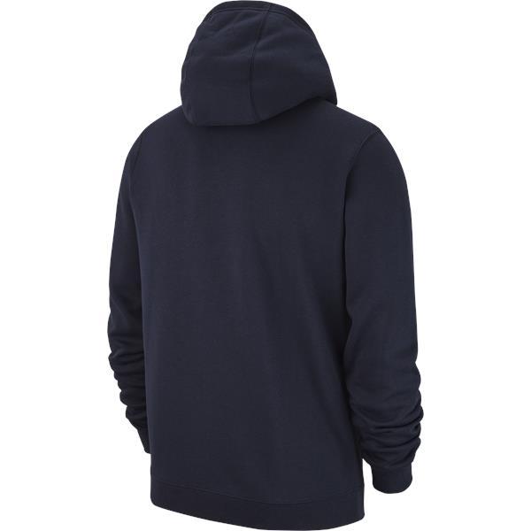 Nike Team Club 19 Full Zip Hoodie Obsidian/White