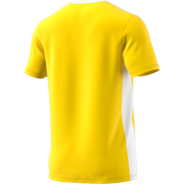 adidas Entrada 18 Yellow/White Football Shirt