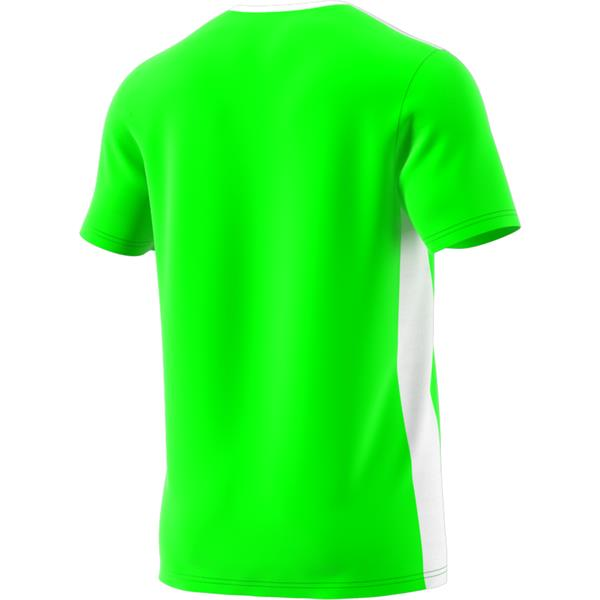 adidas Entrada 18 Solar Green/White Football Shirt