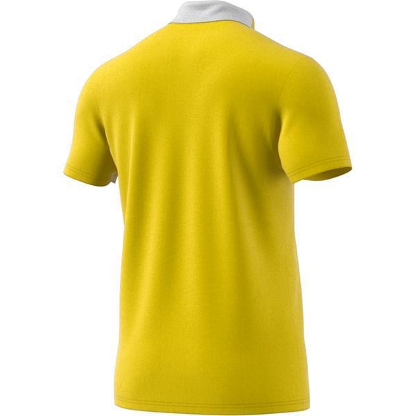 adidas Condivo 18 Yellow/White Cotton Polo