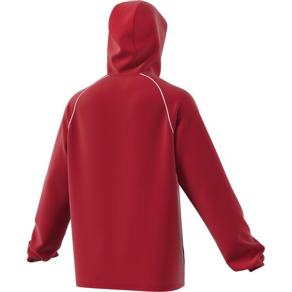 adidas Core 18 Power Red/White Rain Jacket