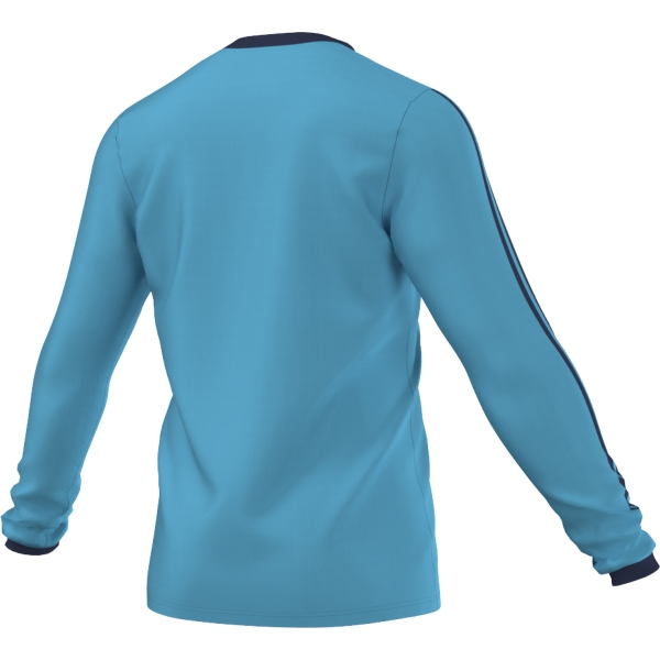 adidas Tabela 14 Super Cyan/Dark Blue LS Football Shirt