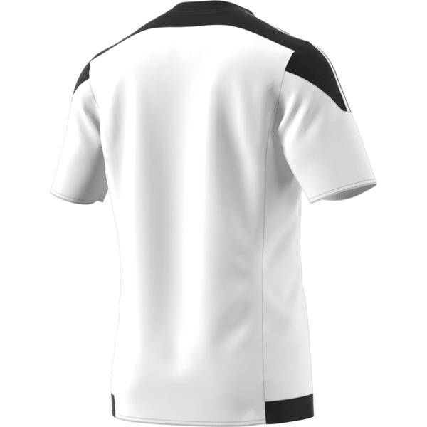 adidas Striped 15 White/Black SS Football Shirt