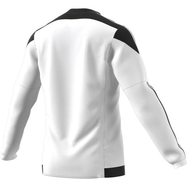 adidas Striped 15 White/Black LS Football Shirt