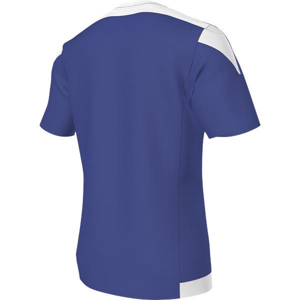 adidas Striped 15 Bold Blue/White SS Football Shirt