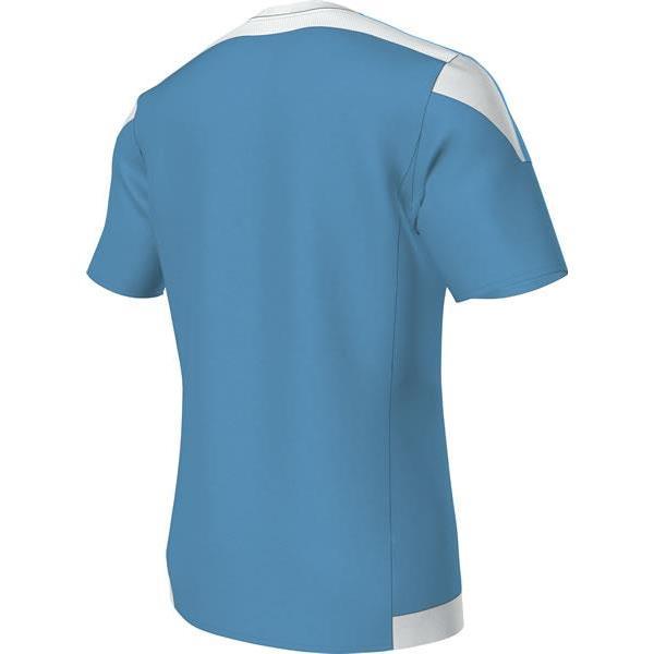 adidas Striped 15 Clear Blue/White SS Football Shirt