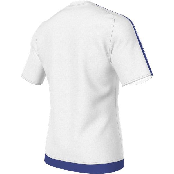 adidas Estro 15 SS White/Bold Blue Football Shirt Youths