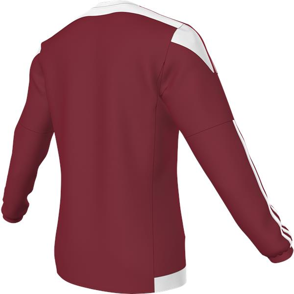 adidas Striped 15 Power Red/White LS Football Shirt
