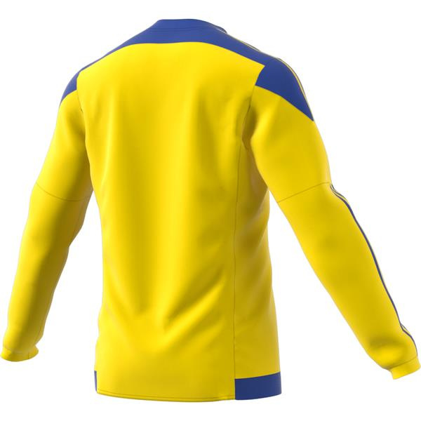 adidas Striped 15 Yellow/Bold Blue LS Football Shirt