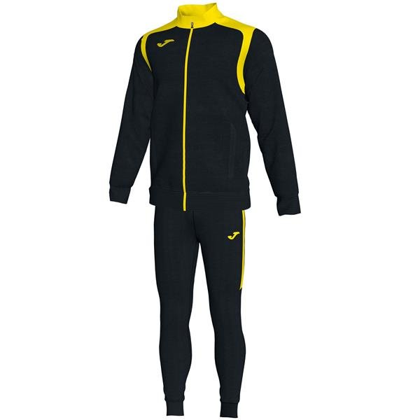 Joma Championship V Black/Yellow Tracksuit