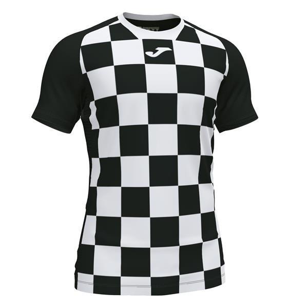 Joma Flag II SS Football Shirt Royal/white