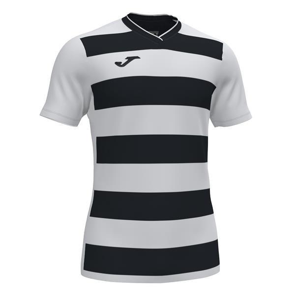 Joma Europa IV SS Football Shirt Royal/white