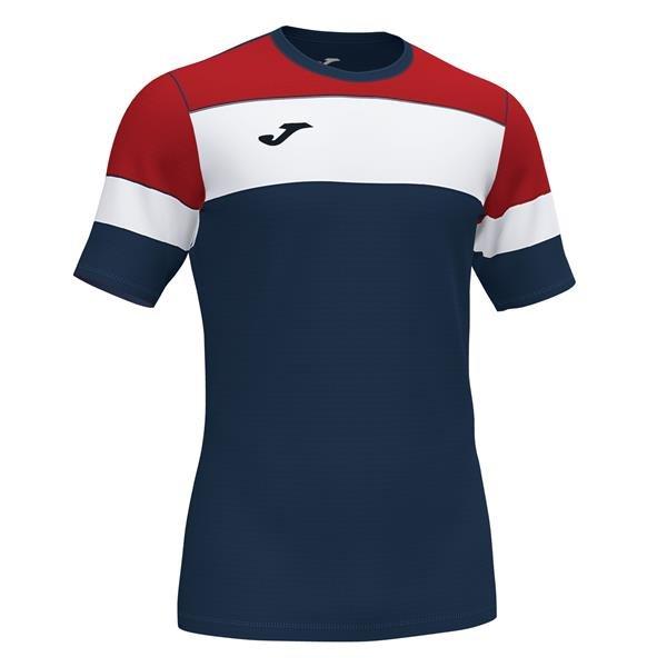 Joma Crew IV Dark Navy/Red T-Shirt