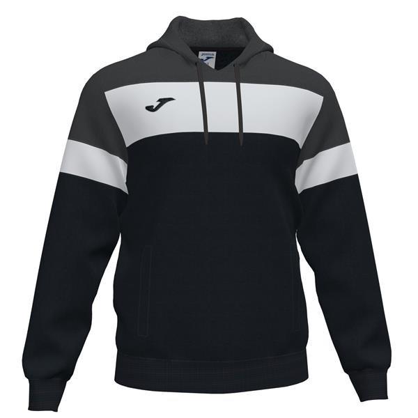 Joma Crew IV Black/Anthracite Hooded Sweatshirt