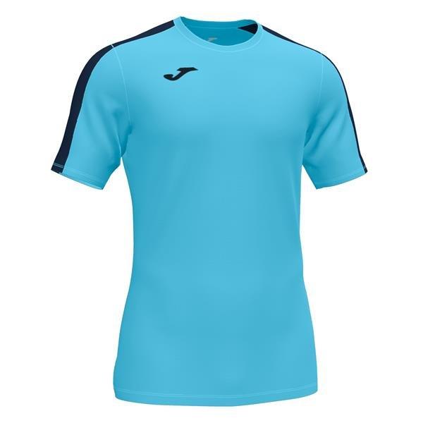 Joma Academy III SS Football Shirt Royal/white