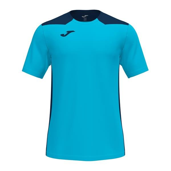 Joma Championship VI SS Football Shirt Royal/white