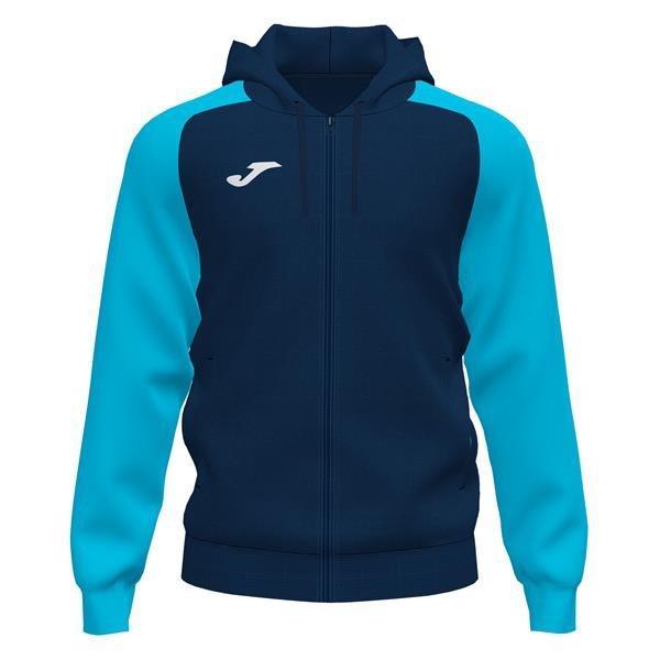Joma Academy IV Dark Navy/Fluo Turquoise Full Zip Hoody